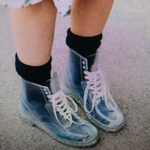 clear rainboots !!!!!